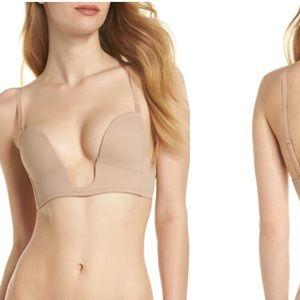 Nordstrom Nude Convertible Plunge Bra
